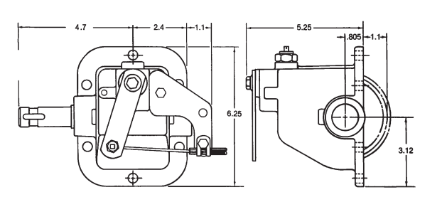 Muncie SG series dimensions